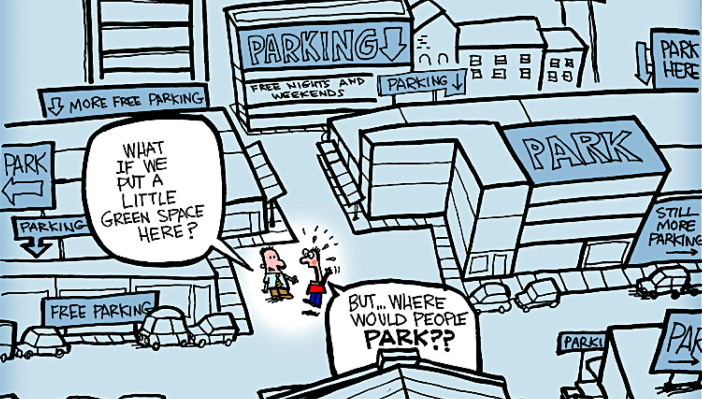 Editorial cartoon parking